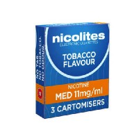 Nicolites cartomisers Medium Tobacco
